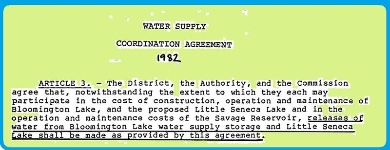 Water Supply Coordination Agreement 1982 Article 3